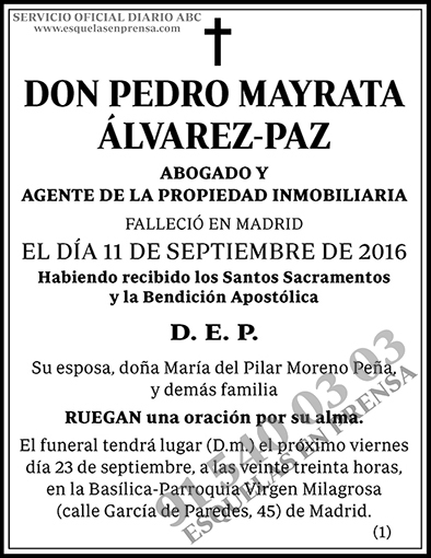 Pedro Mayrata Álvarez-Paz